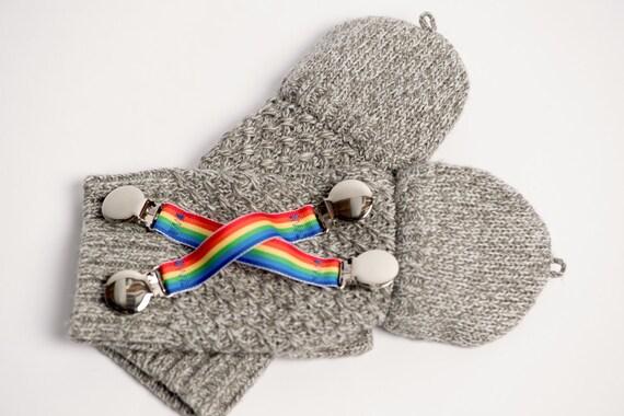 Rainbow Mitten Clips