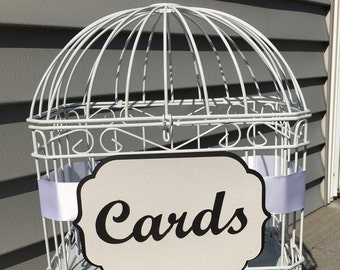 Gift Card Holder, Bird Cage Card Holder, Bridal Shower Card Holder, Birdcage Wedding card Holder