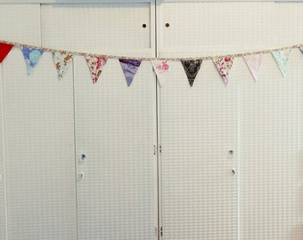 Party bunting, homemade 3.25m long floral