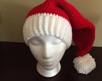 Crochet Santa, Christmas, Holiday Hat (Adult/Teen size)