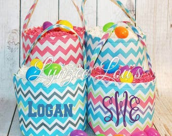 Personalized Chevron Easter Baskets