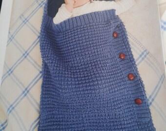 Baby Sleeping Bag, Papoose, Baby Cocoon, Aran Sleeping Bag, Handmade, Hand Knitted, Custom Made