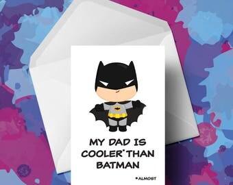 Batman  - Fathers Day Card