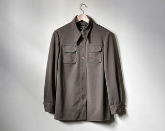 Vintage Givenchy Brown Button Down Shirt