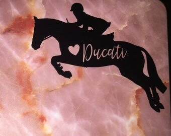 Hunter Jumper Decal with Name - SOLID COLORS