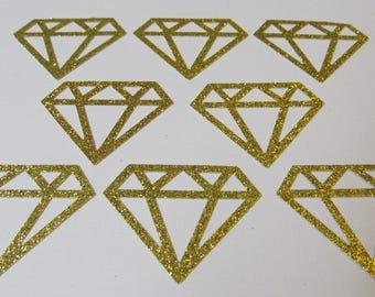Glitter Diamonds Confetti - Gold Glitter Cardstock - Table Scatter - Bridal - Party Decor - Weddings, Showers, SPARKLE Confetti