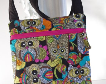 Owl cross body Owls quilted shoulder bag purse
