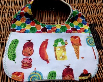 Hungry Caterpillar Baby Bib, Spots & Foods