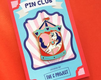 Limited Edition enamel pin - Carousel Unicorn Ride (SLIGHT SECOND)