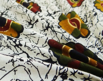 """Dressmaking Fabric Cotton Fabric For Sewing Designer White 42"""" Wide Fabric 100% Cotton Floral Printed Crafts Fabrics By The Yard ZBC6640"""