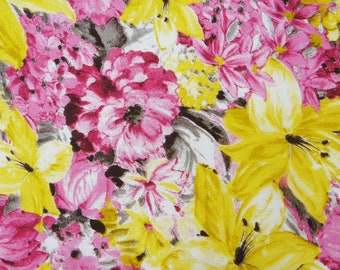 "Indian Cotton Dress Fabric, Floral Print, Multicolor Fabric, Home Decor Fabric, 42"" Inch Fabric By The Yard ZBC7516C"