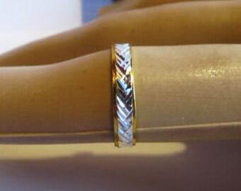 Nice metal Ring 1.0 gr. silver gold color noallergic gift women men wedding