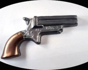 Novelty Soap, Derringer Gun Soap, Revolver Soap.