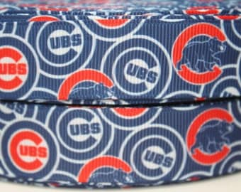 Chicago Cubs (1.5 Width) Dog Collar - Side Release Buckle (Martingale Option Available)