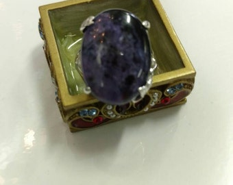 CLEARANCE * Charoite Ring, Size 6 1/2
