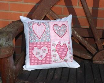 Love Heart Patchwork Cushion