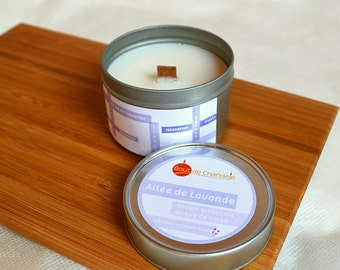 Scented candle - fragrance of flower - Lavender wax natural rapeseed - essential oils - VEGAN