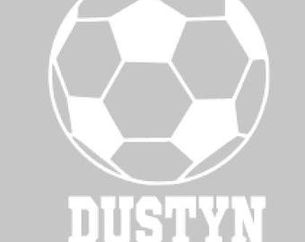 Soccer Ball With Name Decal
