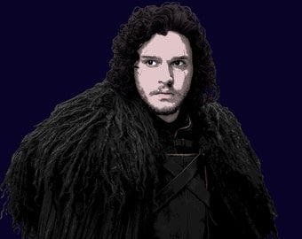 Jon Snow Kit Harington Game Of Thrones Stylised Poster