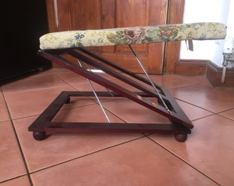 Adjustable Tapestry Fold Away Foot Rest