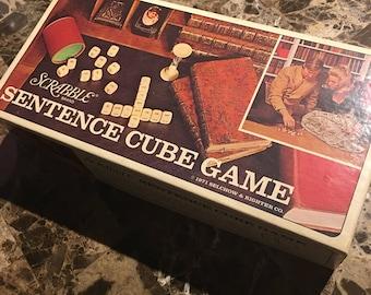 1971 Scrabble Sentence Cube Game