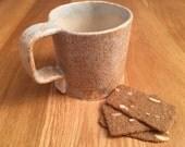 Ceramic Mug / Cream Speckle Mug / Coffee Mug /  Tea and Coffee Mug / Pottery Mug