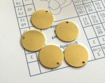 12 mm 20 Gauge (0.80 mm) thickness 30 pcs stamping Round blank,tag,disc,findigs,sealing,pressing Raw Brass