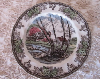 The Friendly Village - Willow by the Brook - Bread n Butter Plate by Johnson Bros.