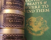 Fantastic Beasts Candle. Harry Potter Candle. Fandom Candle. Magic Candle. Soy Candle. Candle Gift Set. Gifts for Nerds. Gifts for Geeks.