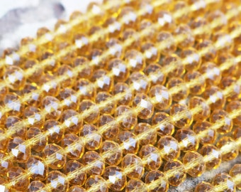 golden brown crystals, faceted beads, rondelle beads, faceted rondelle, full strand, 1mmx 2mm