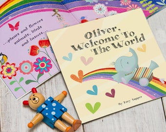 Welcome To The World Personalised New Baby Book   Gifts for New Baby   Keepsake Baby Book