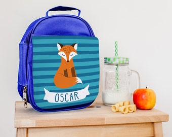 Children's Lunch Bag - Personalised Insulated Lunch Bag - Fox Lunch Bag