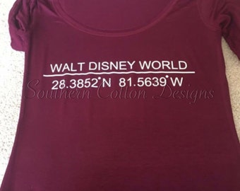 Walt Disney World/Land Coordinates shirt