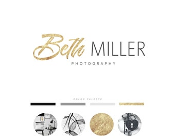 Photography logo, Gold logo, Fashion Logo, Designer logo, Event Planner Logo, Calligraphy Logo, Premade logo, Photo watermark, Logo 17