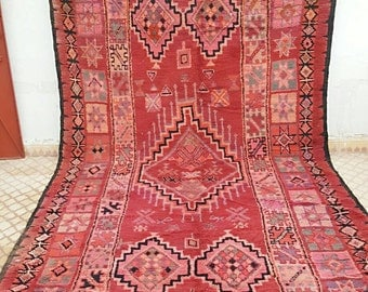 Huge rug berber boujaad with lovely pattern pinky