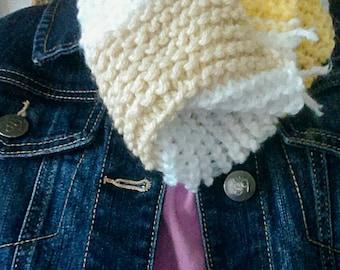 Multi-Color Crochet Cowl