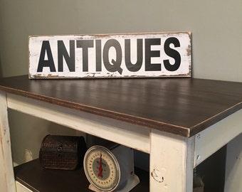 Antiques Sign,Farmhouse Signs,Farmhouse Wall Decor,Rustic Wood Signs,Rustic Wall Decor,Handcrafted,Wood Signs,Farmhouse Style,Rustic Decor