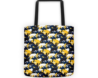 Berkeley Running Golden Bears Camo/ Camouflage Tote Bag/ Purse