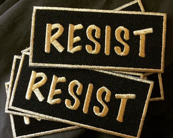 Resist patch / Iron-on patch / Jacket patch