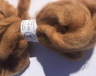 Roving Light Fawn 100% Alpaca, Natural colour, felting, spinning, fibre painting - 50gr (1.7 oz)