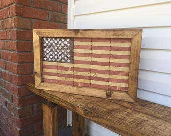 Patriotic Wood American Flag Home Decor