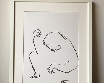 Abstract sloth pondering 2