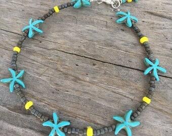 Starfish Anklet, Beach Anklet, Hippie Anklet, Ankle Bracelet, Anklet