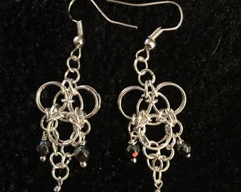 Hematite dangle earings
