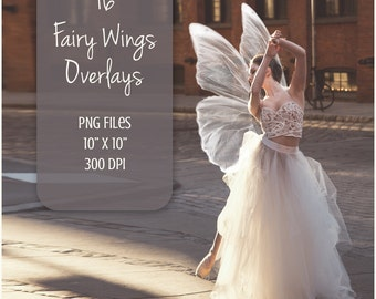 Wings overlays, fairy wings, 16 PNG, photoshop overlay, fantasy, magic, clip art, fairy overlay, photoshop, magical fairy, wings overlay