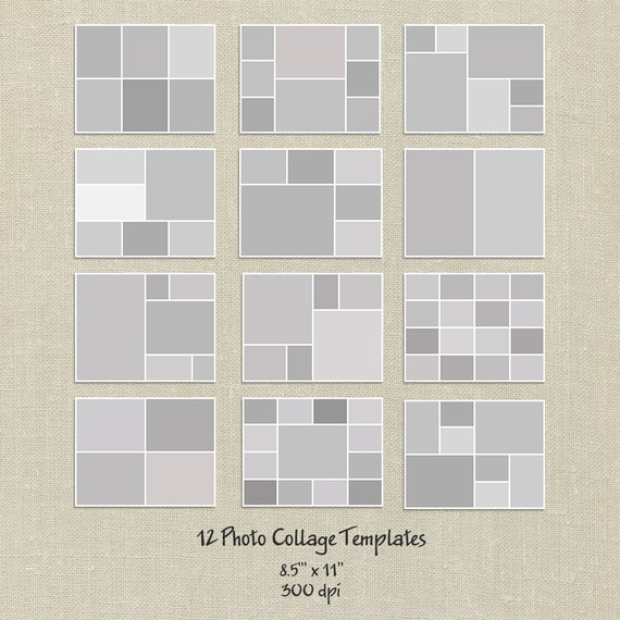 12 Storyboard Templates, 8.5x11, Photo Collage Templates, Layered Digital  Collage, PSD Photographer Template, Digital Scrapbooking From HappyNews On  Etsy ...