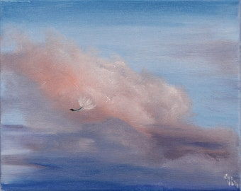 Cloudscape Painting, Gift for Daughter, Cloud Art, Inspirational Painting, Amazing Art, Contemporary Art, Original Oil Painting