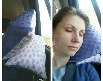 Car Travel Pillow Seatbelt Pillow for Kids, Teens and Adults