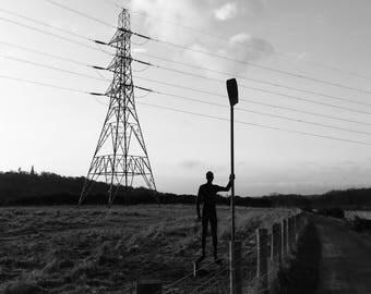 Nature Photography, Newcastle Photography, Countryside Print, Electricity Pylon, Newburn Print, Tyne Riverside, Ryton Print, Photography