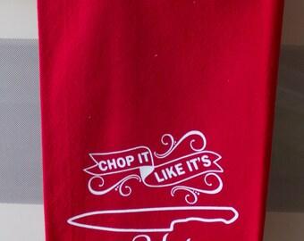 Kitchen Dish Towel, Red